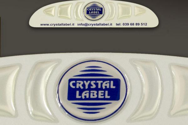 etichetta resinata Crystal Label