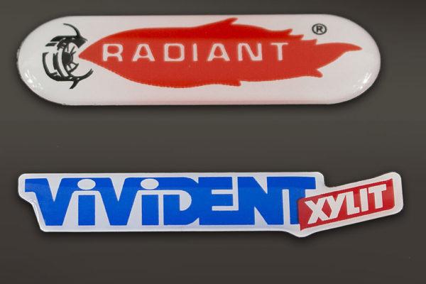 etichetta resinata Vivident - Radiant